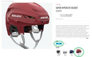 Helmet Bauer Hyperlite RED S-M Brand New 🔥🔥🔥
