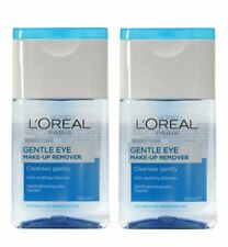2 x LOREAL PARIS 125mL GENTLE EYE MAKE UP REMOVER WITH SOOTHING ALLANTOIN NEW