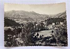 Cartolina vera foto Presolana la pineta anni '50 bianco nero viaggiata