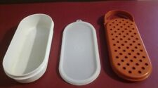 Tupperware Vintage Cheese Container And Grater With Lid 1375-20 1374-18 1376-1