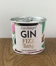 Candlelight Gin Fizz Bang Small Tin Candle Ring Pull Top ~ Pink Gin Scent Gift