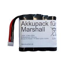 Akkupack Marshall Kilburn Lautsprecher Ersatz f. TF18650-2200-1S4PA 14,4V 2,9Ah