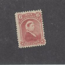 NEWFOUNDLAND # 35  FVF-MNH  6cts QUEEN VICTORIA / DULL ROSE CAT VALUE $120