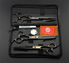 Pet Dog Grooming Scissors Cutting Curved Hair Thinning Shears Salon Supplies