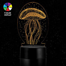 LED illusion JELLYFISH 7 Color table Night Light Lamp Birthday Gift Holiday