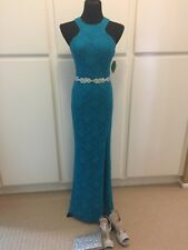Women WINDSOR Homecoming/Prom/Formal Turquoise Blue Lace Evening Gown SIZE 7 & 9