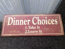 Shabby Chic Style Metal Wall Plaque
