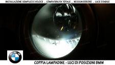 """COPPIA LAMPADINE LED BIANCO GHIACCIO POSIZIONI """"BMW SERIE 1 (E81)"""" (2006-2012)"""