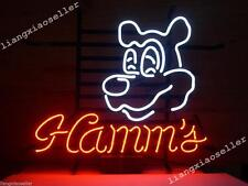 New Hamm'S Hamms Beer Lager Handcrafted Real Glass Neon Light Bar Pub Store Sign