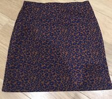 M&S Collection Animal Print Mini Skirt Size 14 L Long NEW BNWT