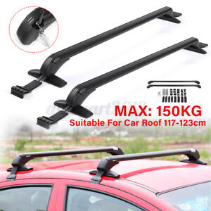 120cm Universal Car Roof Luggage Rack Aluminium Cross Bars Carrier Adjustable AU