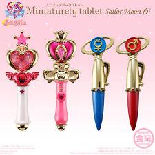 Bandai Sailor Moon Compact Miniaturely Tablet Wands Part 6 Rod Set of 4