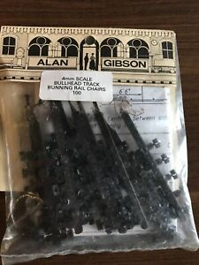 Alan Gibson 4mm Bullhead Track Running Rail Chairs