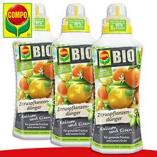 COMPO 3 x 0,5 l BIO Zitruspflanzendünger | Mit Kalium und Eisen Limette Orangen