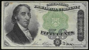 "1974 ""Fourth issue"" $.50 Fractional Note ""Fine"" *Free S/H After 1st Item*"