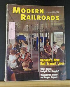 Modern Railroads 1966 June Canada's new rail transit Lines Montreal Subway