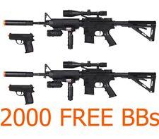 Toy Gun Lot 4 Airsoft Spring Guns Rifles FREE Pistols w/ Free BB LASER Grip