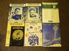 1940s Sheet Music Lot of 5 Don't Fence Me In, Surrender, Harbor Lights, and more