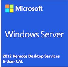 Windows Server 2012 R2 Remote Desktop Services RDS 5 USER CAL LICENSE+@¬