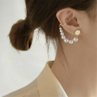 2020 Fashion Pearl Earrings Stud Ear Clip Cuff Chain Woman Party Jewelry Gifts
