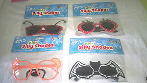 Tobar Kids Silly Shades, Fancy dress Novelty Funny Party bag fillers Sunglasses