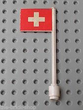 Drapeau Suisse LEGO VINTAGE flag Switzerland ref 3596 / Flagge Schweitz