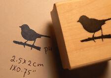 """Mini bird rubber stamp so cute 0.75x0.7"""" WM P4"""