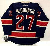 "RYAN McDONAGH NEW YORK RANGERS REEBOK NHL PREMIER THIRD JERSEY CAPTAIN'S ""C"""