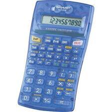 Sharp EL-501WBBL Scientific Calculator