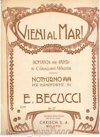 Becucci: Come Al Mar ! Notturno Für Klavier - Carisch