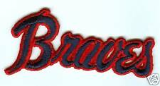 "Atlanta Braves 3 3/4"" x 2"" sew on patch ""braves"" r&b"