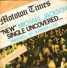 "MICHAEL JACKSON farewell my summer love NEAR MINT DISC TMG 1342 uk 7"" PS EX/EX"