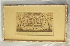 Antique Roman Fort Blueprint Map Framed on wooden frame, Very Rare Collectible