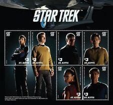 Saint Kitts - Star Trek - Sheet of six - 2016 MNH