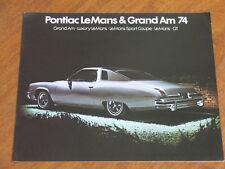 1974 Pontiac Le Mans & Grand Am original 20 page Canadian brochure