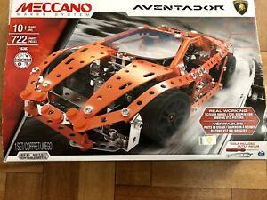 Meccano LAMBORGHINI AVENTADOR Construction Kit Set - 16307 LAMBO Genuine S.T.E.M