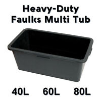 40L / 60L / 80L Multi Tub Horse Duck Feed Bucket Equine Stable Water Trough Pet