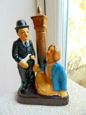 CHARLIE CHAPLIN FIGURE CERAMIC CHARLIE CHAPLIN & LADY ORNAMENT FIGURINE.