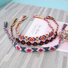 3PCS Colorful Tassel Boho Weave Hemp Cords Ethnic Friendship Bracelet Wristband