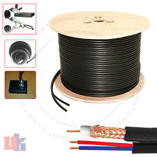 New High Quality 305 Meter Shotgun RG59 Video And 2 Power CCTV Cable Lead UKED