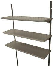Storage Shed Shelf Kit 30 in Plastic Polyethylene Sturdy Steel Brackets New