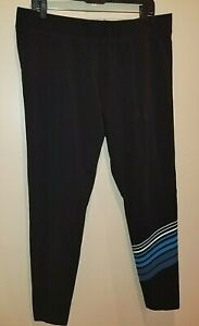Livi Active Womens sz 18/20 Black legging Pants / Elastic Waist
