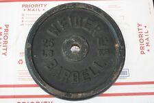 1 - Weider Barbells Bar Bell 25 LB Iron Weight Plate 25 LB Total - Free Shipping