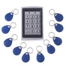 RFID Entry Metal Door Lock Access Control System + 10 Key Fobs L3