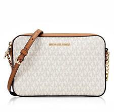 Michael Kors Shoulder Bag Jet Set Item LG Ew Crossbody Vanilla Acorn New