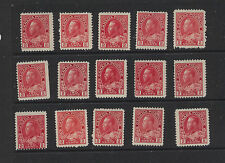 Canada  106    15 stamps unused  NO gum              MS1010