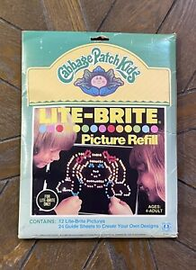 Vintage Lite Brite Picture Refills Cabbage Patch Kids & Blanks Complete Pack/36