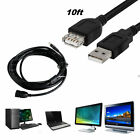 10FT/3M USB 2.0 A MALE to A FEMALE Extension Cable Cord Extender For PC Laptop R