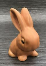 Burnt Orange Sylvac Style Snub Nose Bunny Rabbit Wadeheath Ware Art Deco
