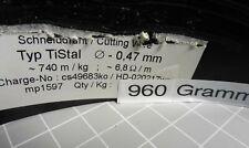 710 lfm RaVet TiStal Ø 0,47 mm Schneiddraht Widerstandsdraht Cutting wire